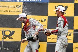 Podium: le vainqueur René Rast, Audi Sport Team Rosberg, Audi RS 5 DTM, le troisième Nico Müller, Audi Sport Team Abt Sportsline, Audi RS 5 DTM