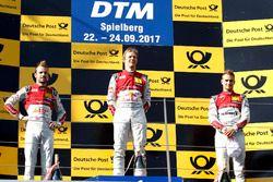 Podium: Racewinnaar Mattias Ekström, Audi Sport Team Abt Sportsline, Audi A5 DTM. tweede plaats Jami
