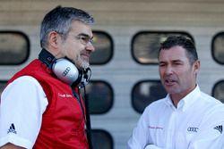 Dieter Gass, Head of DTM Audi Sport with Tom Kristensen