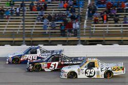 Brandon Jones, Chevrolet, Harrison Burton, Kyle Busch Motorsports Toyota, Kaz Grala, GMS Racing Chev