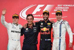 Race winner Daniel Ricciardo, Red Bull Racing, Pierre Wache, Red Bull Racing Chief Engineer Performa