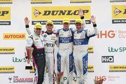 Podium: 1. Jason Plato, Team BMR Subaru Levorg; 2. Ashley Sutton, Team BMR Subaru Levorg; 3. Colin T
