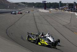 Charlie Kimball, Chip Ganassi Racing Honda, Simon Pagenaud, Team Penske Chevrolet