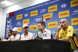 Press Conference: Gabriele Tarquini, LADA Sport Rosneft, Lada Vesta; Robert Dahlgren, Polestar Cyan