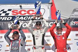 Podium: race 3 winner Timo Reger, second place Austin Kaszuba, third place Raphael Forcier
