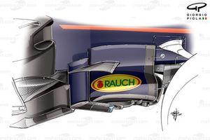 Red Bull RB13 bargeboards, GP van Spanje