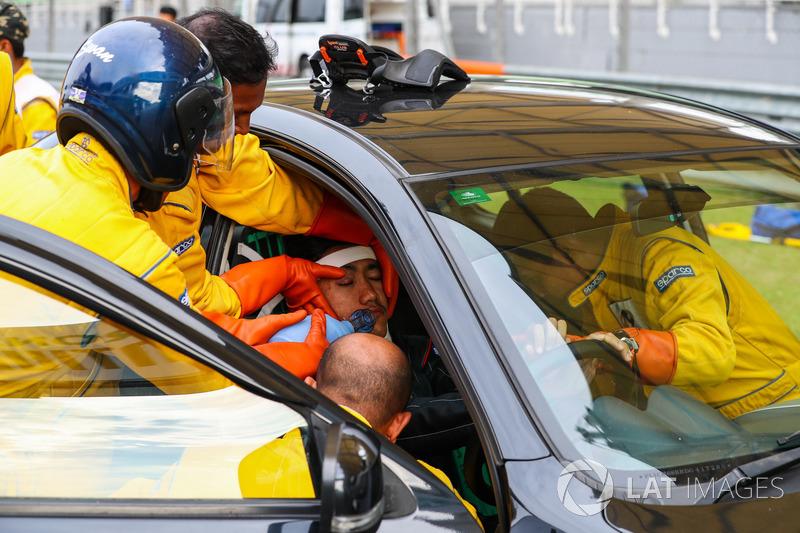 Team medico prova l'estrazione del pilota