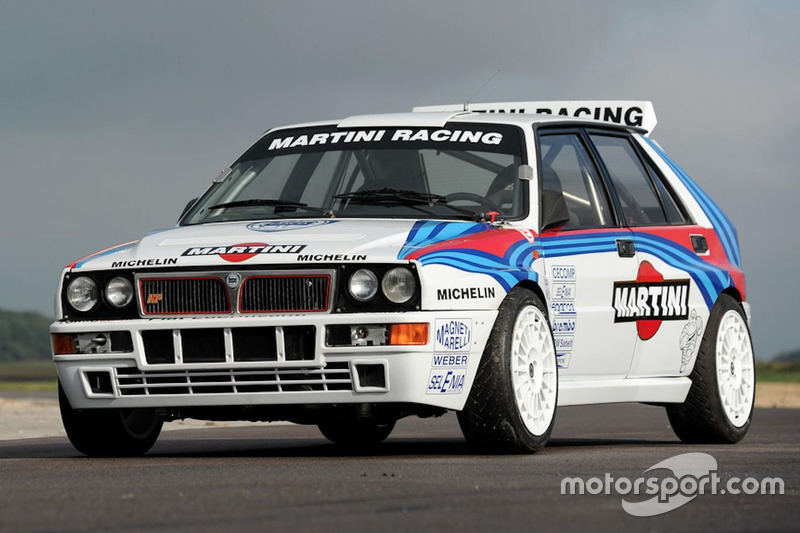 1990 lancia delta hf integrale evolution works group a rally car at