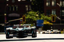 Oliver Turvey, NEXTEV TCR Formula E Team, leads Jean-Eric Vergne, Techeetah