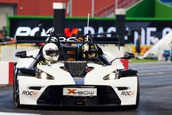 Petter Solberg driving the KTM X-Bow Comp R