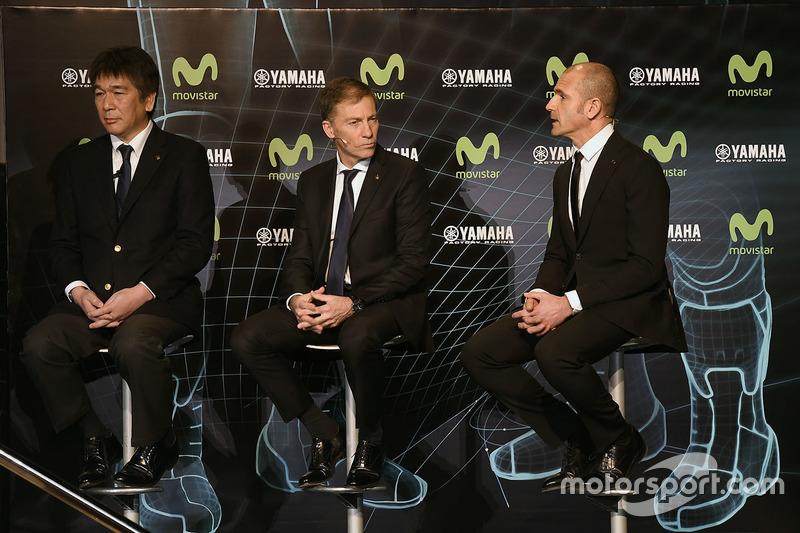 Kouichi Tsuji, Gerneral Manager Motorsport Development Division, Yamaha Motors, Lin Jarvis, Yamaha F