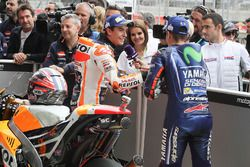 Le poleman Marc Marquez, Repsol Honda Team, Maverick Viñales, Yamaha Factory Racing