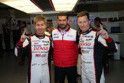 Pole position for #7 Toyota Gazoo Racing Toyota TS050 Hybrid: Kamui Kobayashi, Jose Maria Lopez, Mik