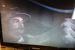 Fernando Alonso in the Honda Performance Development simulator viewed from the control room monitor