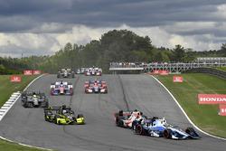 Max Chilton, Chip Ganassi Racing Honda, Sébastien Bourdais, Dale Coyne Racing Honda, Charlie Kimball, Chip Ganassi Racing Honda