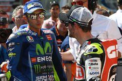 Sıralamalarda 2. sırada yer alan Valentino Rossi, Yamaha Factory Racing, Cal Crutchlow, Team LCR Hon