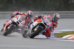 Andrea Dovizioso, Ducati Team, et Danilo Petrucci, Pramac Racing