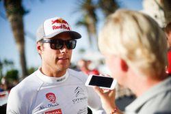 Andreas Mikkelsen, Citroën C3 WRC, Citroën World Rally Team alks to the media