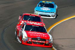Ryan Reed, Roush Fenway Racing Ford and Michael Annett, JR Motorsports Chevrolet