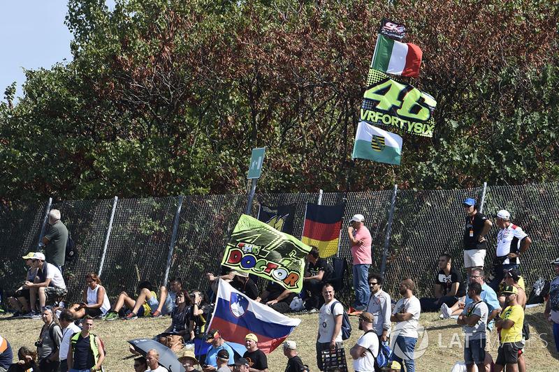 Fans en las gradas de Misano