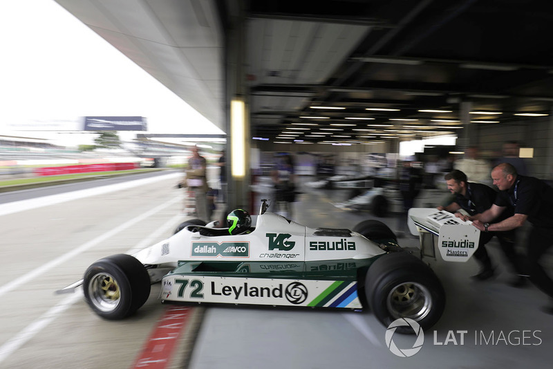 A Williams FW07 is demonstrated