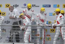 Подиум: №29 Audi Sport Team Land-Motorsport, Audi R8 LMS: Кристофер Мис, Коннор де Филиппи, Маркус В
