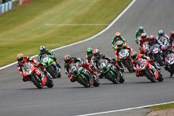 Chaz Davies, Ducati Team leads at the start