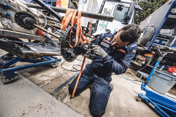 Peugeot Sport mechanic at work