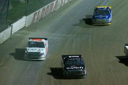 Noah Gragson, Kyle Busch Motorsports Toyota and Ryan Truex, Hattori Racing Enterprises Toyota