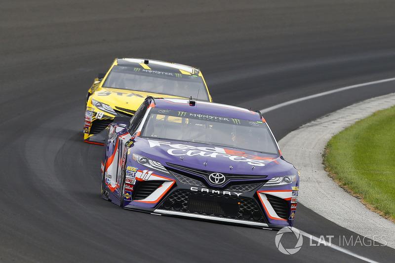 Denny Hamlin, Joe Gibbs Racing Toyota, Daniel Suárez, Joe Gibbs Racing Toyota