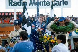 Podium: winner Alain Prost, Renault, second place John Watson, McLaren, third place Nelson Piquet, B