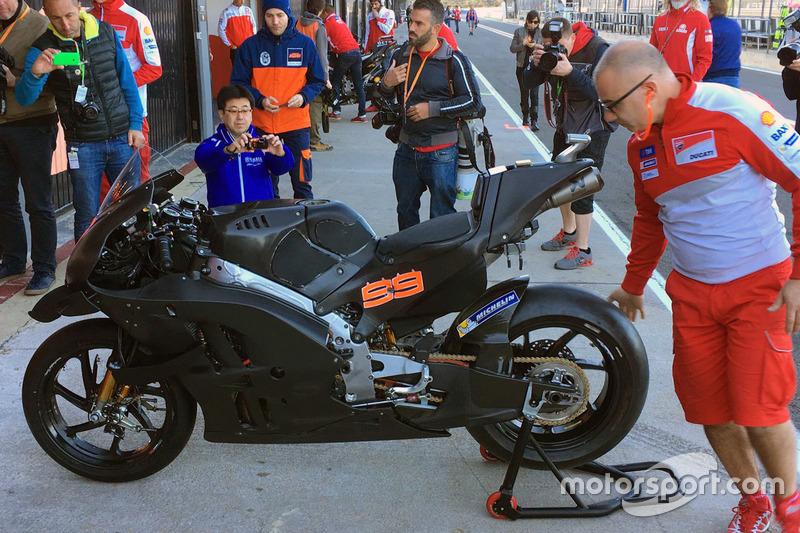 La moto de Jorge Lorenzo, Ducati Team