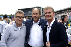 Bernd Schneider, Gerhard Berger, ITR Chairman, David Coulthard