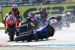 Marvin Fritz, Bayer-Bikerbox Yamaichi, Roberto Tamburini, Pata Yamaha crash