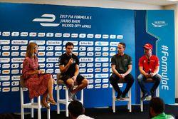 Nicki Shields, Jérôme d'Ambrosio, Dragon Racing, Adam Carroll, Jaguar Racing, en Felix Rosenqvist, M