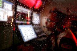 Gocce di pioggia in pitlane