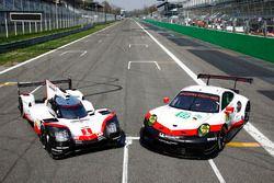 La Porsche 919 Hybrid e la Porsche 911 RSR