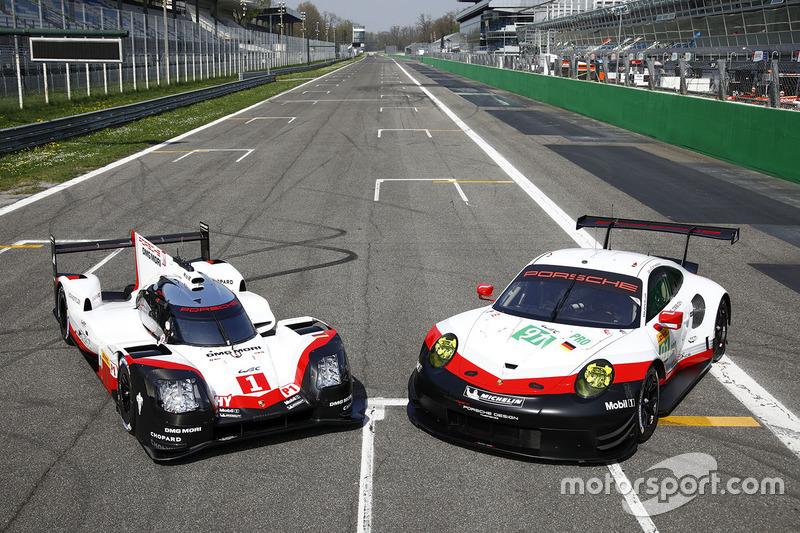EL Porsche 919 Hybrid y el Porsche 911 RSR