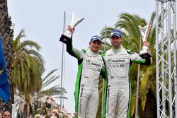 Cerimonia di Premiazione: Umberto Scandola, Guido D'Amore, Skoda Motorsport Italia