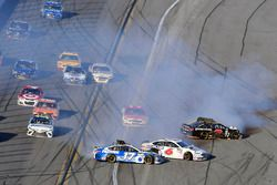 Ricky Stenhouse Jr., Roush Fenway Racing Ford and Trevor Bayne, Roush Fenway Racing Ford wreck