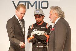 Andy Green, Sergio Perez et Vijay Mallya à la présentation Sahara Force India