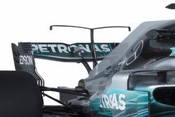 L'aileron arrière et le T-wing de la Mercedes AMG F1