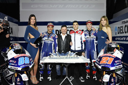 Jorge Martín, Gresini Racing Team and Fabio Di Giannantonio, Gresini Racing Team with Fausto Gresini