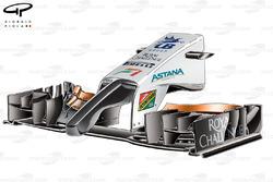 DUPLICATA : Le nez et l'aileron avant de la Force India VJM09