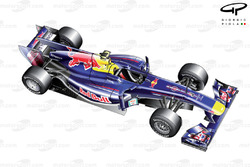 Red Bull RB6 3/4 view
