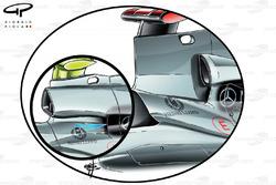 Arceau de sécurité de la Mercedes W02 (petite bulle) après les changements effectués à la réglementation 2011 interdisant les structures étroites comme celle utilisée sur la W01