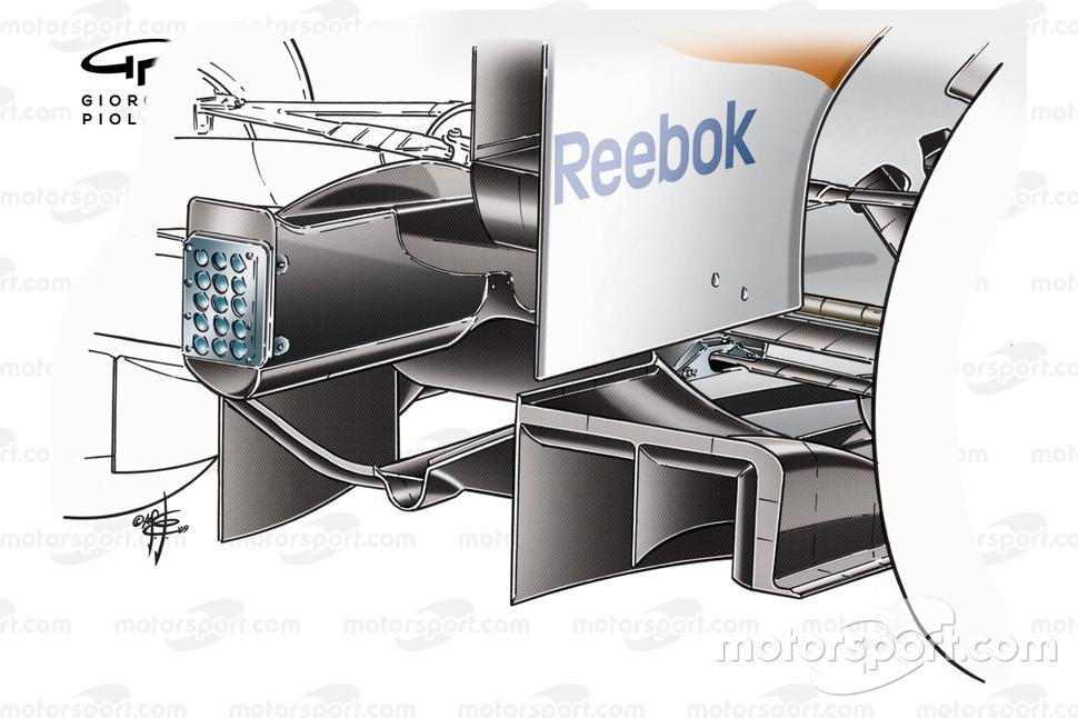 Desarrollo del doble difusor Force India VJM02 2009