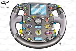 Volant de la Ferrari F2007