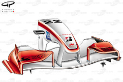 Super Aguri SA05 (Arrows A23) 2006 front wing and nose