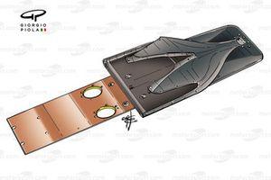 Рассекатель воздушного потока и доска скольжения McLaren MP4-19